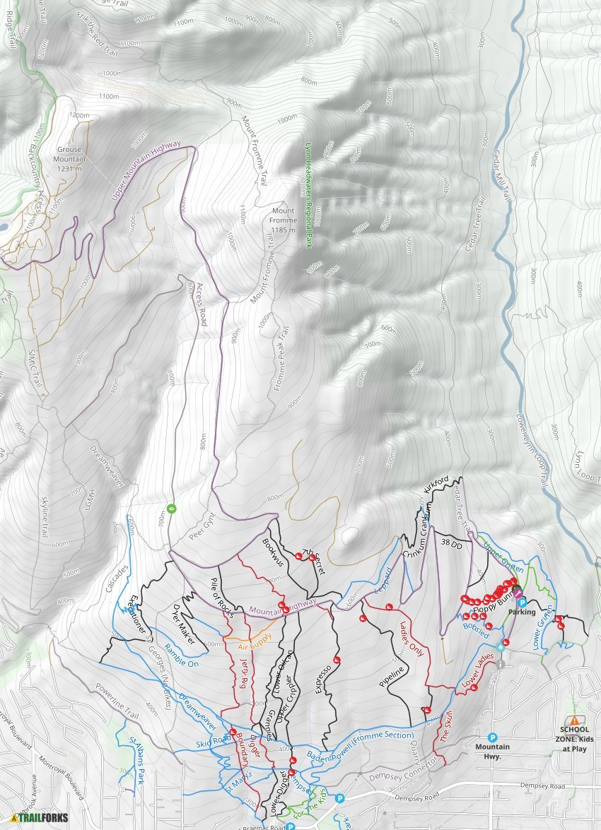 Mount Fromme Mountain Biking Trails | Trailforks