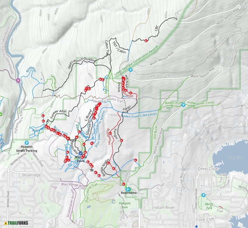 Mount Seymour Mountain Bike Trails Trailforks