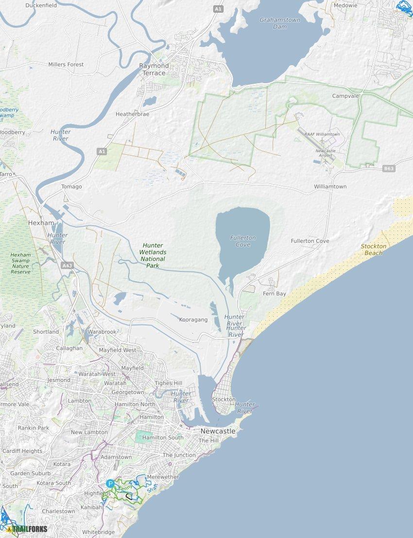 Australia Map Newcastle.Newcastle Australia Mountain Biking Trails Trailforks