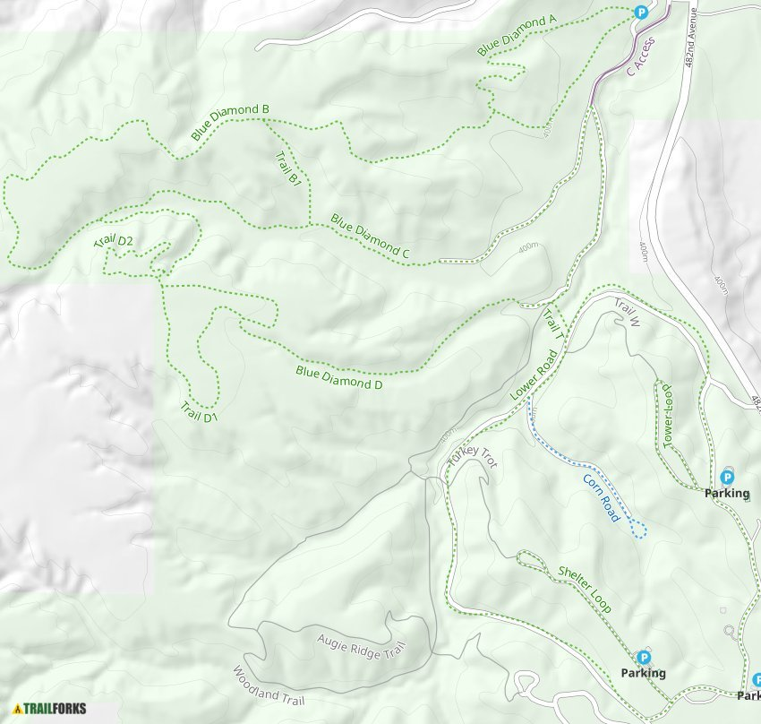 Newton Hills State Park  Canton Mountain Biking Trails