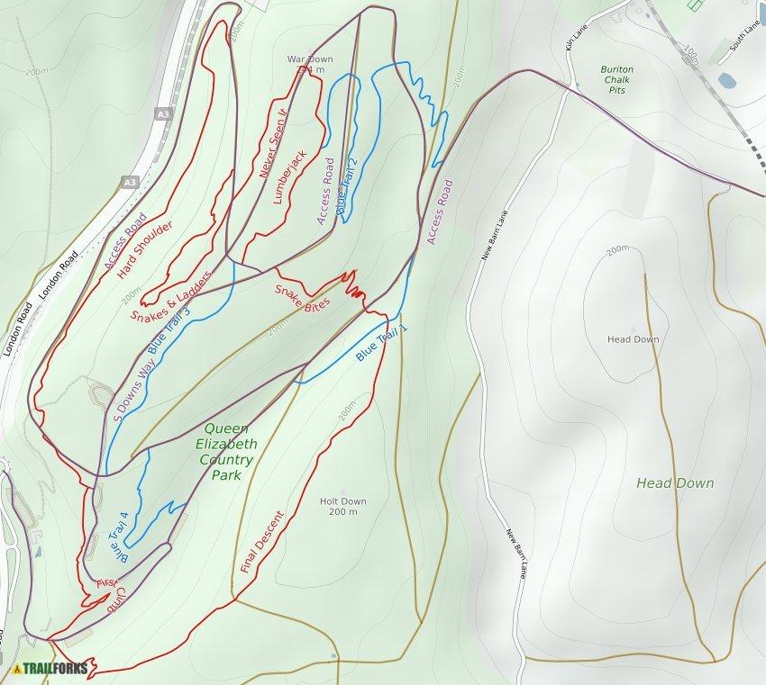 Queen Elizabeth Country Park Mountain Biking Trails | Trailforks