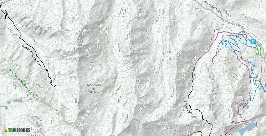 Solitude Utah Map.Solitude Mountain Resort Mountain Biking Trails Trailforks