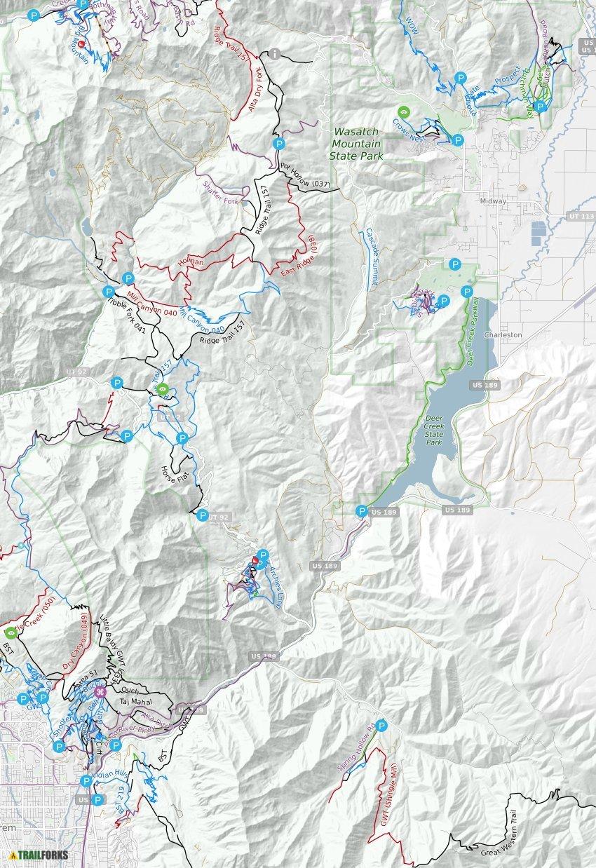 Sundance Utah Mountain Biking Trails Trailforks