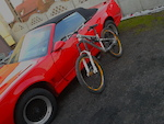 "Pontiac Firebird 82-92"" feat. my Transition Bottlerocket with Marzocchi 66 and Rock Shox Vivid Air R2C."