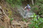 Luca Zenone (SUI) races down the stage 4 during the first stop of the European Enduro Series in Punta Ala, Italy, on April 26, 2015. Free image for editorial usage only: Photo by Antonio Lopez Ordonez