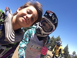 Me and my lady Rachel throop were riding together in snow summit. It was love at first sight.