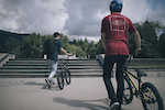 Brandon Semenuk and Rupert Walker on the Sunshine Coast, British Columbia
