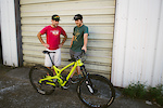 Paris Gore shows off the bike he thought he would never see again with Eric Brown who found it and identified it to the cops. Photo: Danielle Baker