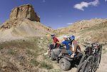 Jordie Lunn, Wade Simmons and Darren Berrecloth in Moab, Utah while filming for Roam in 2006