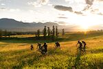 """""""Don't worry, there isn't much stuff you can hit in the field."""" The bike equivalent of frolicking through a field feels  exhilarating and uncertain, even with Tucker Braund's half-hearted assurance. Invermere, BC"""