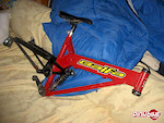 '99 BB7 frame. I just got it a month ago or so and its to much frame for me. Although its a 99, it runs greats. It has a great Stratos Helix Pro shock, with rebound, compression, lock out, and air preload adjustment. On top of all that, it comes with a FSA PIG DH PRO. Sealed bearings, the whole works. Comes with a titec PRO seat post. Great shape. Comes with the balfa chainguide, and older titec seat and a Shimano SORA derr. It will also come with radius disk brakes and one rotar. Amazing deal. It has some scratches and such, but nothing major... Just tell me what you have for a hardtail...