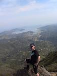 Cam summiting Mt. Tam