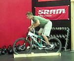 Good, balanced body position on the bike.