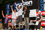 Men's pro podium (l-r) Tom Doran, Curtis Keene, Nathan Riddle, Matthew Slaven, Marco Osborne