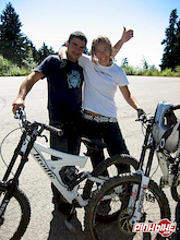 Now who says BMXers and mountain bikers can't be friends?