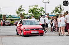 VW Polo 6n 1.4 8v for sale, recaro front seats, borbet atiwee wheels, 16v bumpers, gti splitter, 6n2 rear lights, lowered on v-maxx coil overs.
