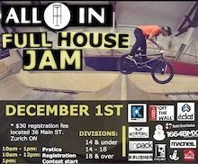 All In Skate Park Update & Full House Jam Info