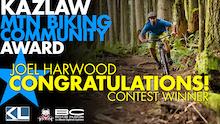 Kazlaw Community Award Winner - Joel Harwood