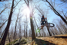 Canfield Bros. rider, Justin Brigandi putting his new Jedi through it's paces.  Photo: David Tufino