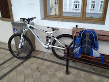 This should be a fun trip. Backpack and gear, bike and a train ticket. Off to explore some mountains