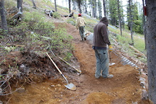 Kicking Horse Bike Park - Trail Crew Update 1 - 2014