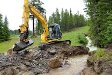 Hafjell Bike Park Damaged in Flood