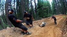 Kicking Horse Bike Park Trail Crew Update 3 2014