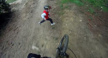 Crash: Kid vs Downhill Mountain Biker