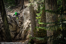 Being Photographed in the Whistler Mountain Bike Park