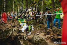 OUCH! Sam Hill Gnarly World Champs Crash Pic