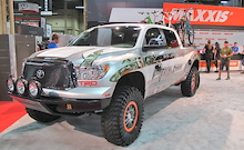 Total Chaos had their Maxxis shod  Toyota Tundra in the show.