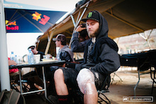 the bummer news of the morning…Aggy's knee is too hurt to compete. RedBull Rampage 2014.