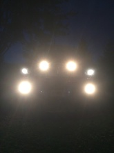 """Put 2 more fog lights behind the grille. 50"""" light bar added to the roof this week then lighting will be done."""