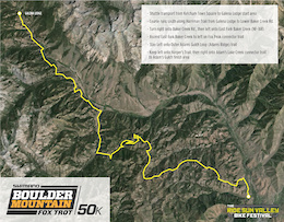 Course Released for Shimano Boulder Mountain Fox Trot 50k