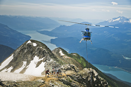 Heli Dropping Mt. Cartier in Revelstoke, BC