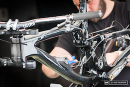 Prototype Saracen Carbon Myst - Val di Sole World Cup DH