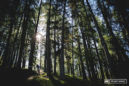 Soon into the woods, riders then descended 1,000m or so down to the town of Guillaumes below to be picked up by a shuttle and returned to town for the final twon stages.