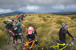 International Riders Descend on Emerson's 3 Peaks Enduro