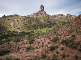Images from Skyler Des Roches' Bikepacking Down and Out and Up in Arizona article