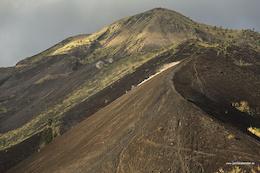 freerideing in bali on the vulcano Batur - thanks adidas outdoor.