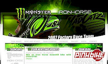 Team Monster Energy/Iron Horse/Mad Catz 2007 web site goes live