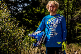 Fly Racing Signs on Pivot Factory Racing