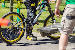 Spotted: Prototype Canyon DH Bike - Crankworx Rotorua 2016
