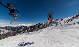 When Bikes and Ski's Become Friends - Video
