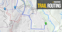 Trailforks Routing Along Roads