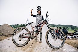 Louis Reboul's Scott Voltage FR - Crankworx Les Gets 2016