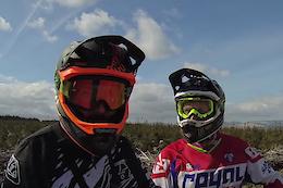 Rob Warner and Steve Peat Ride BikePark Wales - Video