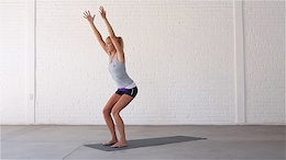 Chair Pose strengthens the glutes.