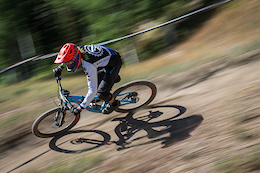 Jason Hawkins races Stage Two of the SCOTT Enduro Cup at Deer Valley Resort in Park City, UT on Aug. 28, 2016