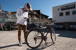 Downhilling on a Granny Bike - Video